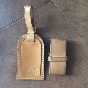 Louis Vuitton Luggage Tag and Strap Set